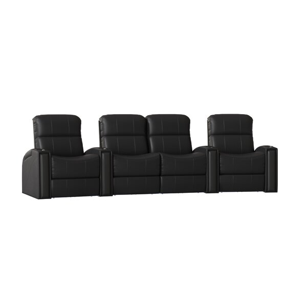 Contemporary Home Theater Curved Row Seating (Row Of 4) By Latitude Run