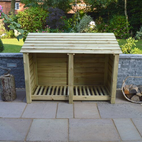Hambleton 6ft W x 4ft H Wooden Log Store Sol 72 Outdoor Finish: Light Green