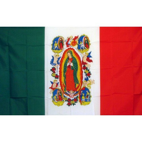 Virgin Lady of Guadalupe Traditional Flag by NeoPlex
