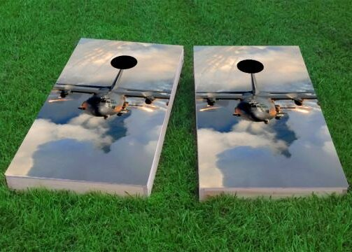 AC130 Flying Cornhole Game (Set of 2) by Custom Cornhole Boards