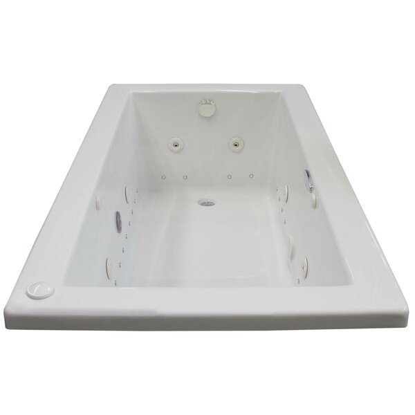 Guadalupe Dream Suite 59.5 x 31.63 Rectangular Air & Whirlpool Jetted Bathtub by Spa Escapes