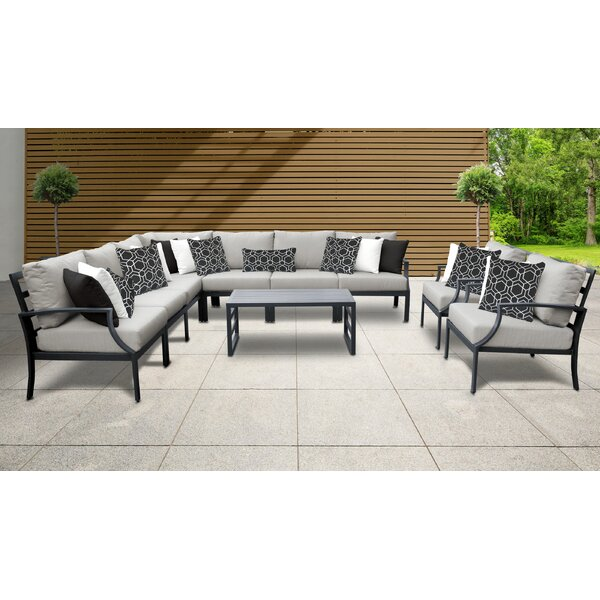 Benner 10 Piece Sectional Seating Group with Cushions by Ivy Bronx