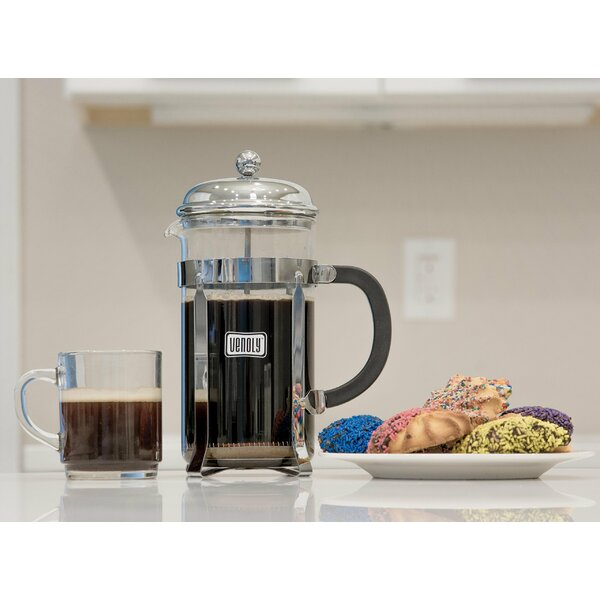 8-Cup French Press Coffee Maker with Burr Grinder by Venoly