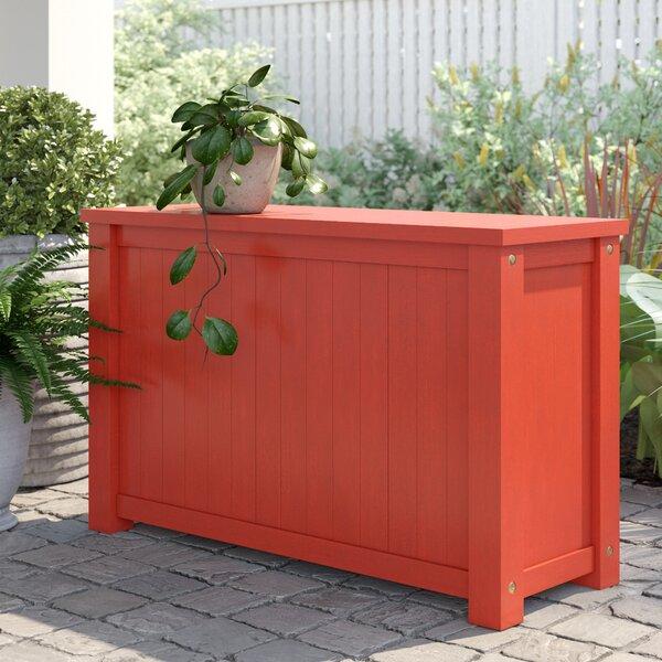 Amarillo Flip Top Solid Wood Deck Box By Sol 72 Outdoor