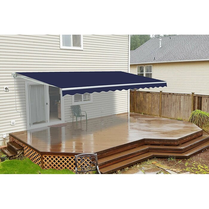 ALEKO 20 X 10 Feet Retractable Motorized Patio Awning Colour