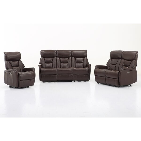 Grip Dual Reclining  Living Room Set by Red Barrel Studio
