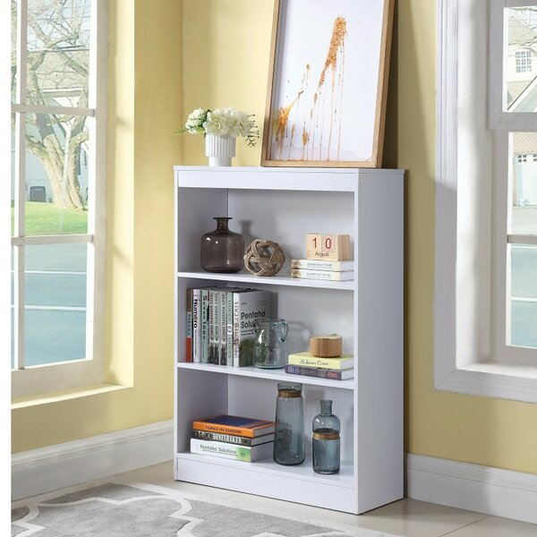 Holcombe Transitional Wooden Standard Bookcase by Winston Porter