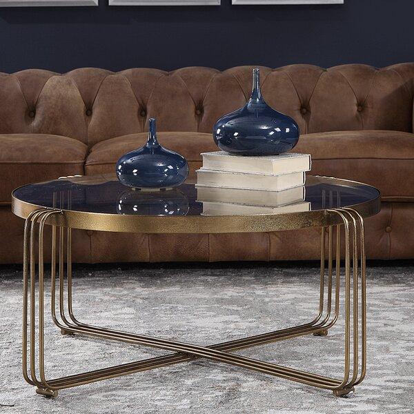 Lanesborough Cross Legs Coffee Table By Everly Quinn