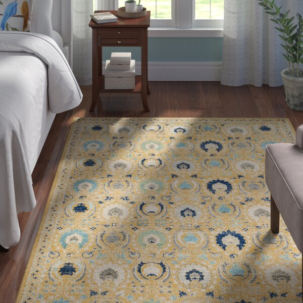 Aegean Gold / Ivory Area Rug by Andover Mills