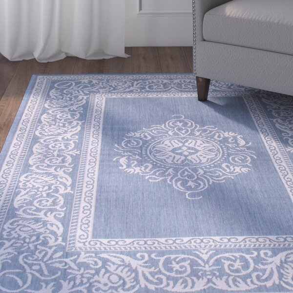 Bellwood All Weather Blue Indoor/Outdoor Area Rug by Charlton Home