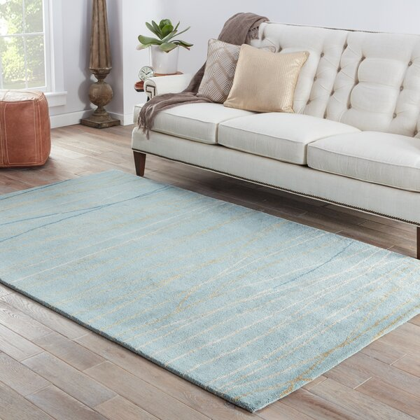Bruce Contemporary Hand-Tufted Blue Area Rug By Orren Ellis.