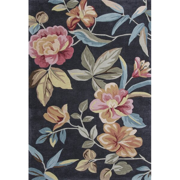 Lyman Charcoal Floral Area Rug by Darby Home Co
