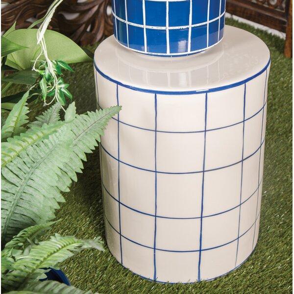 Palko Modern Cylindrical Ceramic Garden Stool by George Oliver