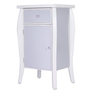Leblanc Mirrored 1 Drawer Accent Cabinet