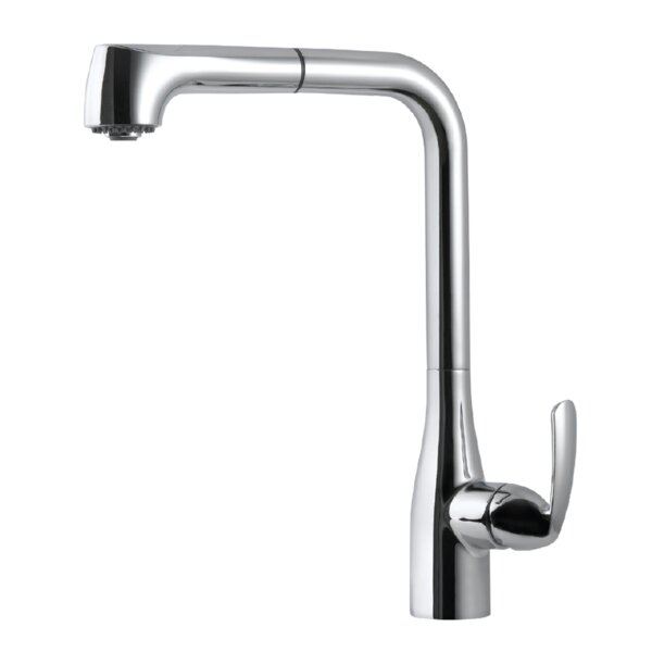 Cora Pull Out Single Handle Kitchen Faucet by Houzer