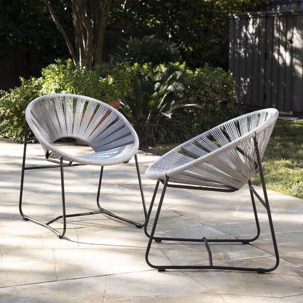 Reynalda Patio Chair (Set of 2) by Bungalow Rose Bungalow Rose