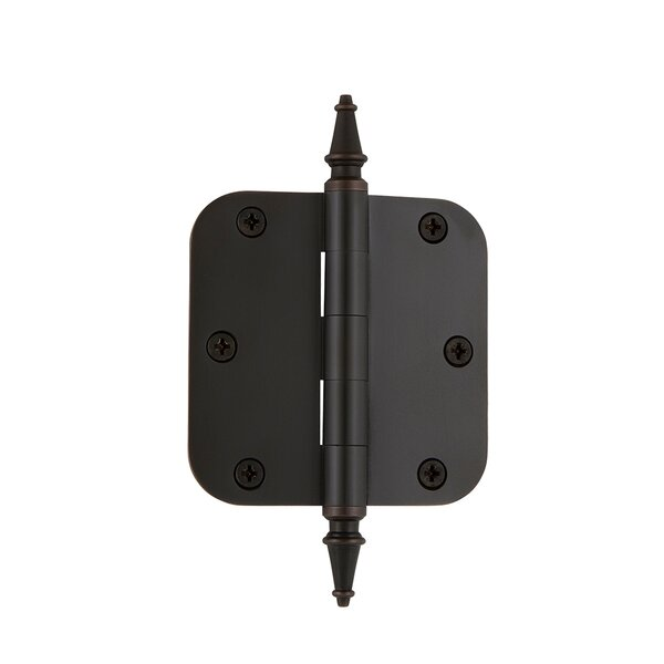 3.5 Steeple Tip Residential Hinge with 5/8 Radius Corners by Grandeur