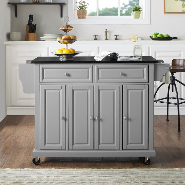 Find Hedon Kitchen Island With Granite Top By Three Posts Sale