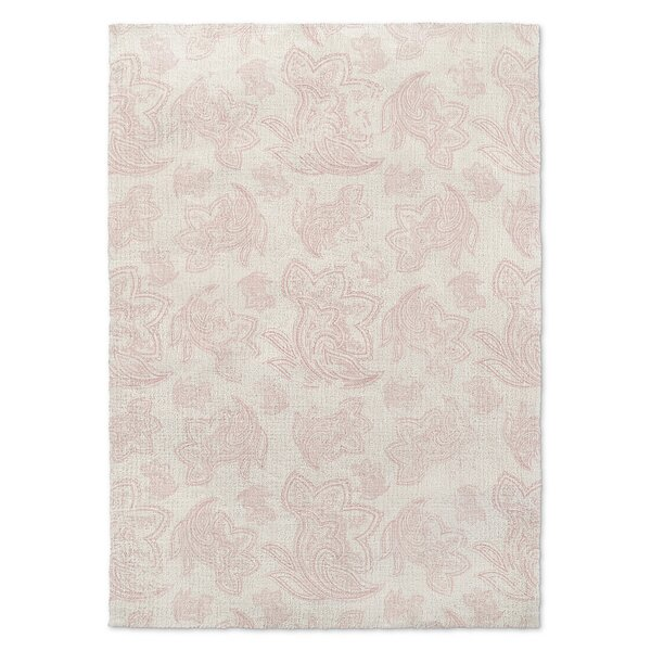 Paisley Destressed Pink Area Rug by KAVKA DESIGNS