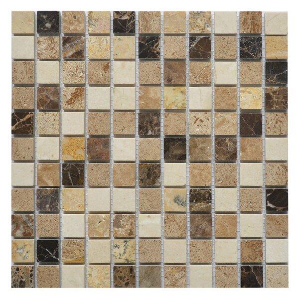 Soul Breeze 1 x 1 Marble Mosaic Tile in Breeze White/Brown by Matrix Stone USA