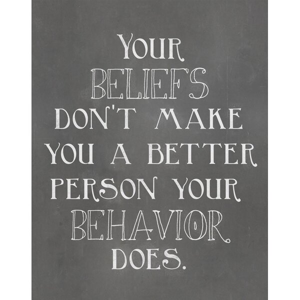 Your Beliefs Quote Textual Art Paper Print by Secretly Designed