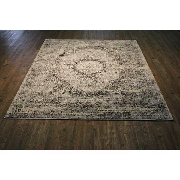 Lansdown Persian Ivory/Black Area Rug by One Allium Way