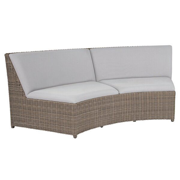 Milano Curved Armless Loveseat with Cushions by Kingsley Bate