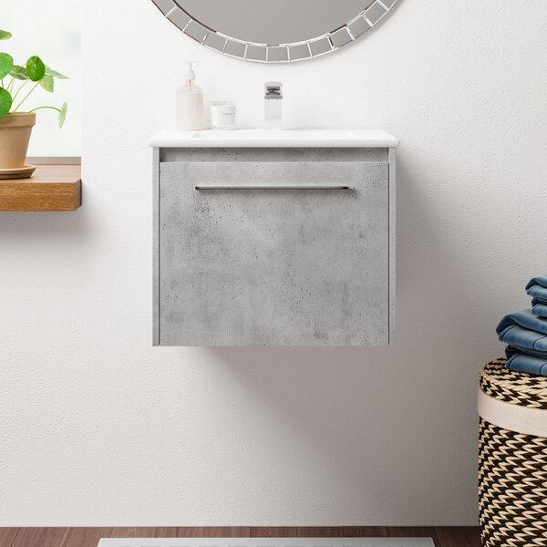 Laperle 24 Wall-Mounted Single Bathroom Vanity Set