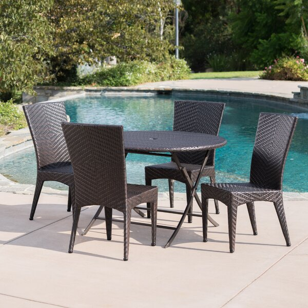Huth Outdoor Wicker 5 Piece Dining Set by Latitude Run