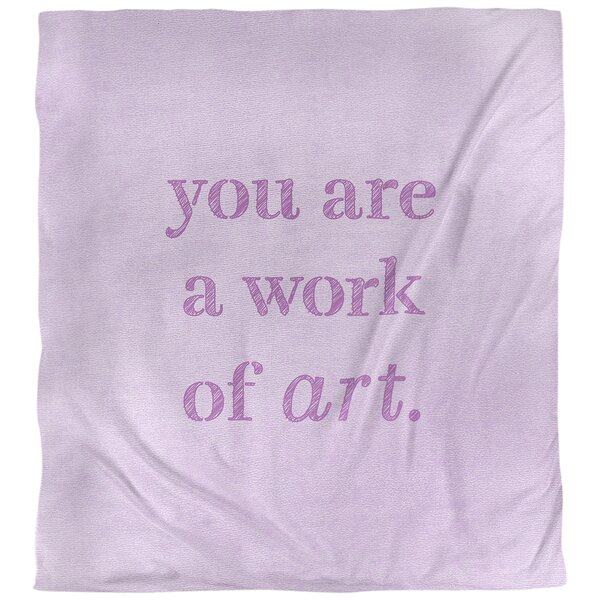 Work of Art Quote Single Duvet Cover