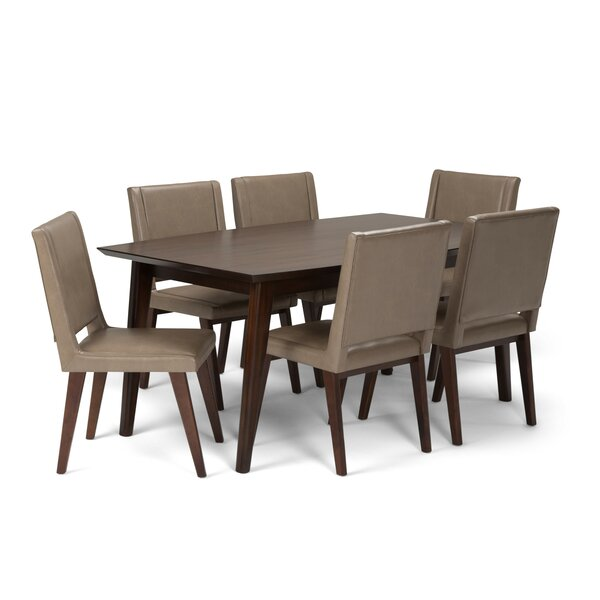 Halvorson Mid Century 7 Piece Dining Set by George Oliver