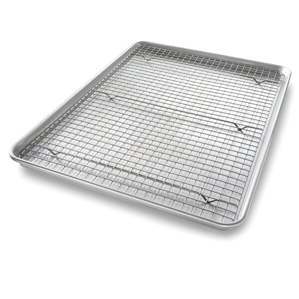 3 Piece Non-Stick Half Sheet Baking Rack Set by USA Pan
