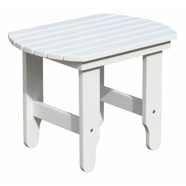 Browner White End Table by Highland Dunes