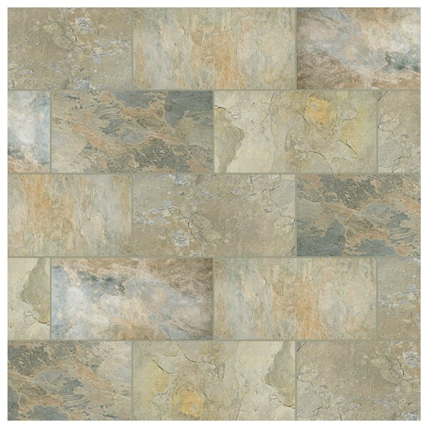 Arriba 12.5 x 24.5 Porcelain Field Tile in Ochre by EliteTile