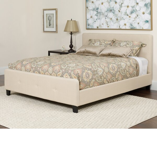 Konen Tufted Upholstered Platform Bed With Mattress by Alcott Hill