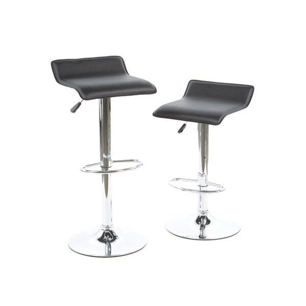 Caddens Adjustable Height Swivel Bar Stool (Set of 2) by Latitude Run