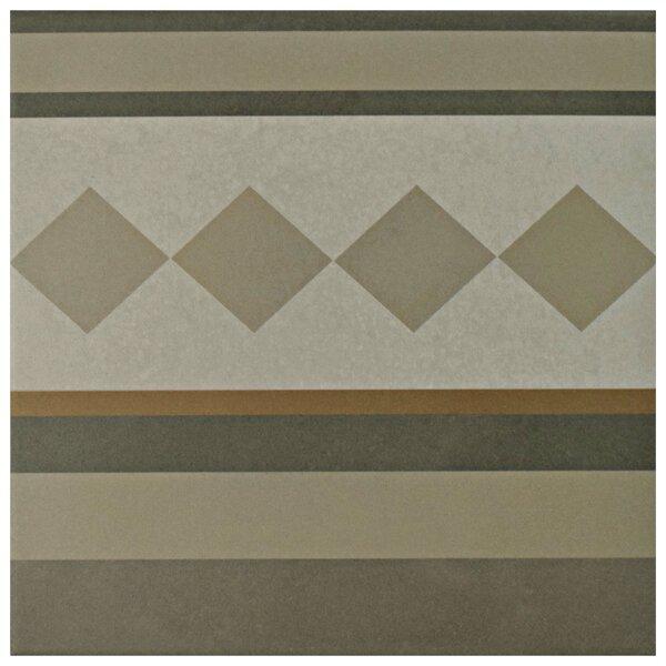 Grotta 7.88 x 7.88 Porcelain Field Tile in Gray/Yellow by EliteTile