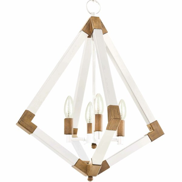 Tanuja 4 - Light Candle Style Geometric Chandelier By Winston Porter