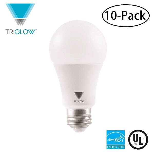 100W Equivalent E26 LED Standard Light Bulb (Set of 10) by TriGlow