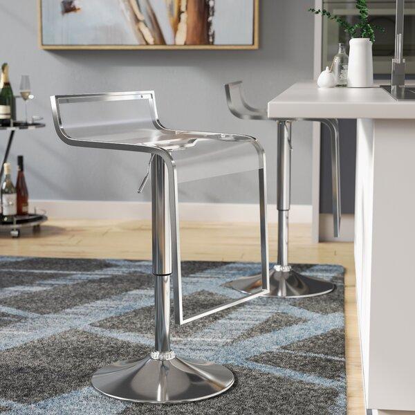 Klingbeil Adjustable Height Swivel Bar Stool by Wade Logan
