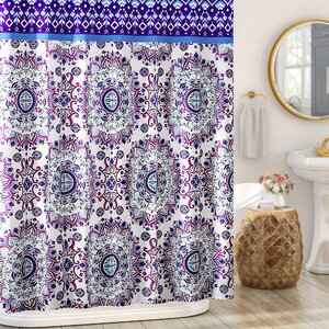 Loraine Mandala Burst Shower Curtain