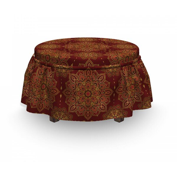 Mandala Inspiration 2 Piece Box Cushion Ottoman Slipcover Set By East Urban Home