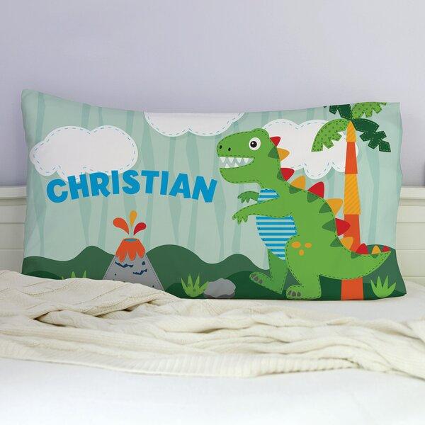 Kintzel Personalized Dinosaur Pillowcase by Zoomie Kids