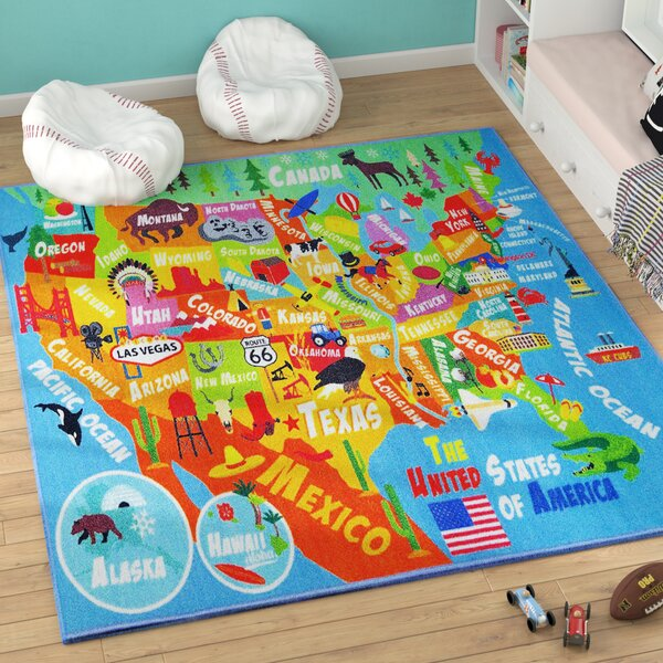 Weranna United States Indoor/Outdoor Area Rug by Zoomie Kids