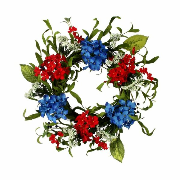 Hydrangea Queen Anne and Berry 20 Wreath by August Grove