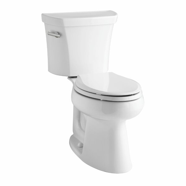 Highline Comfort Height Two-Piece Elongated 1.28 GPF Toilet with Class Five Flush Technology and Left-Hand Trip Lever by Kohler