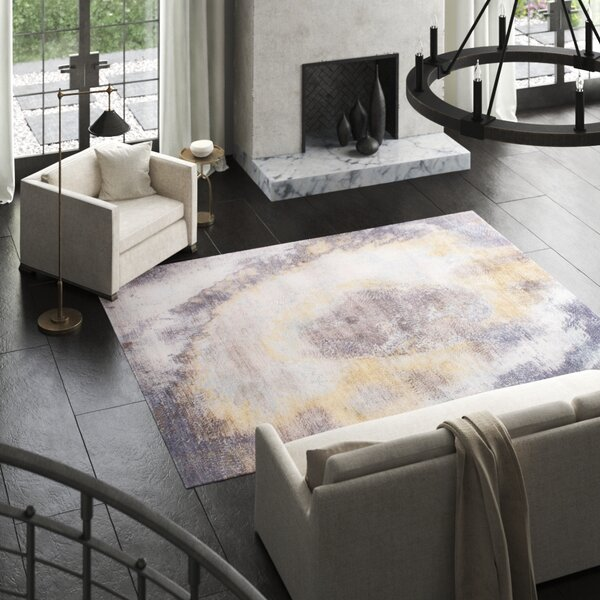 Cosmo Hand-Knotted Wool/Silk Brown/Gray Area Rug