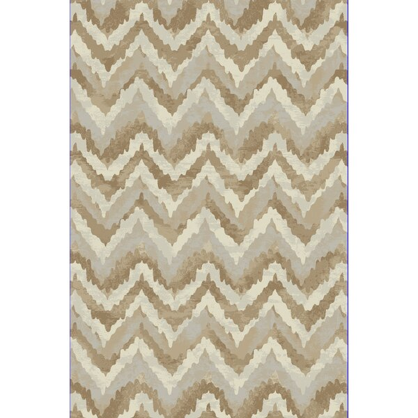 Perrinton Ivory/Beige Area Rug by Wrought Studio