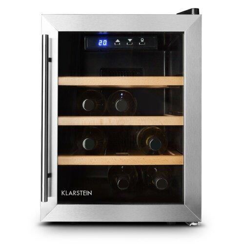 Reserva 12 Bottle Freestanding Wine Refrigerator Klarstein Black