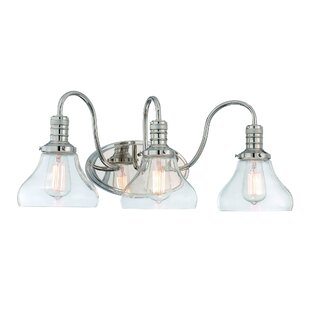 Best Reviews Wall Street 3-Light Vanity Light By Breakwater Bay
